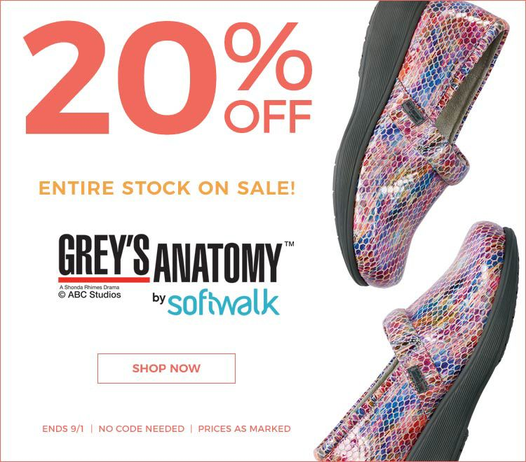20% Off Grey's Anatomy by Softwalk