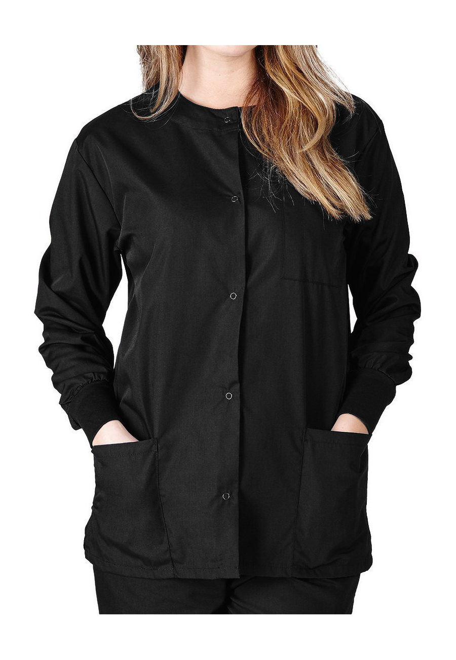 Natural Uniforms Round Neck Scrub Jackets - Black - 2X plus size,  plus size fashion plus size appare