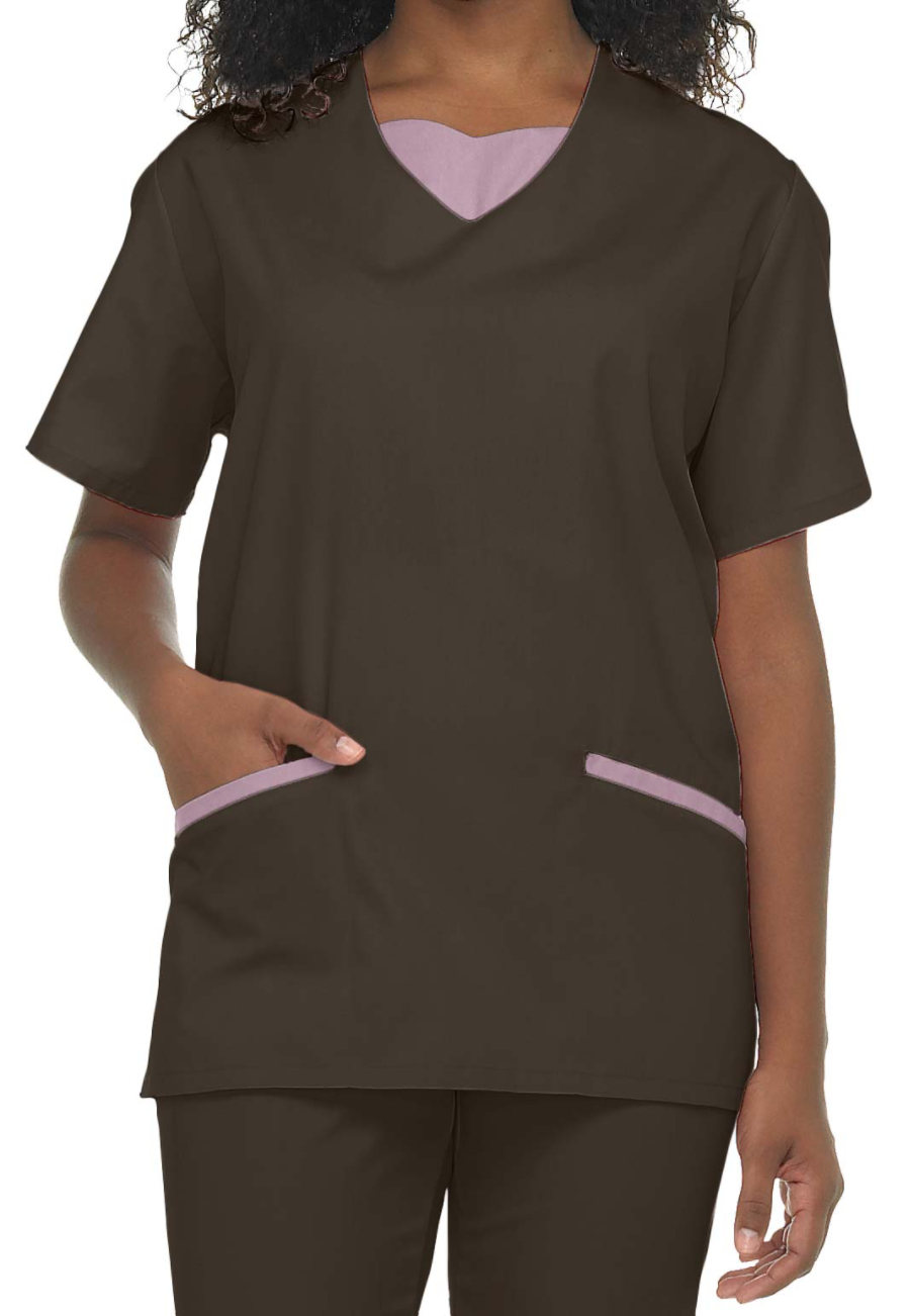 Natural Uniforms Tunic Solid Two Piece Scrub Set