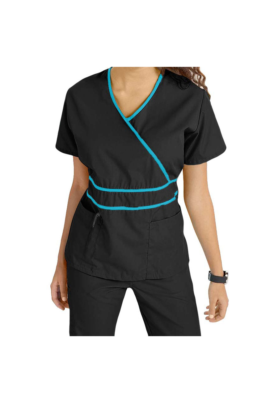 Natural Uniforms Mock-wrap Two Piece Scrub Set