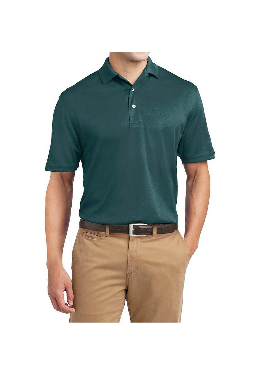 Sport-Tek Men's Dri-mesh Polo Shirts - Dark Green - L