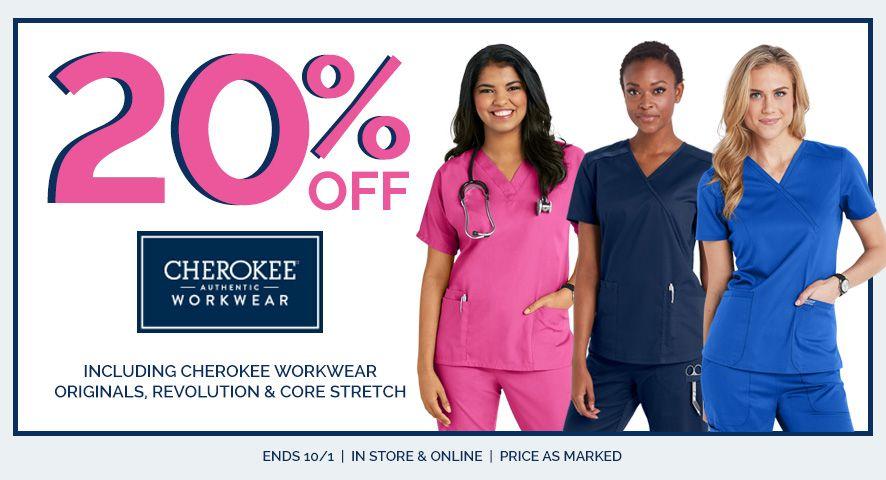 20% off Cherokee workwear