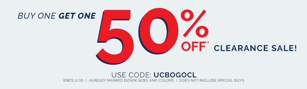 BOGO 50% off Clearance!