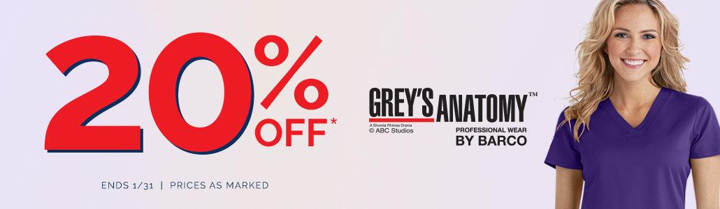 20% off Grey's Anatomy