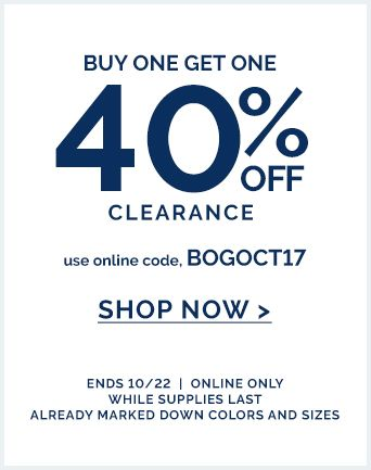 BOGO 40% off clearance
