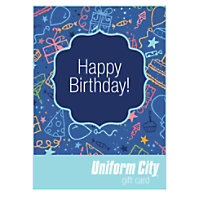 Uniform City Happy Birthday Email Gift Card