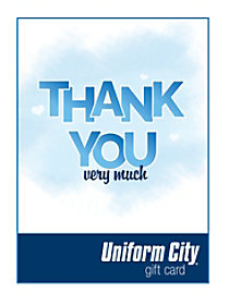 Uniform City Thank You Email Gift Cards