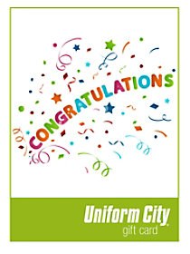 Uniform City Congratulations Email Gift Cards