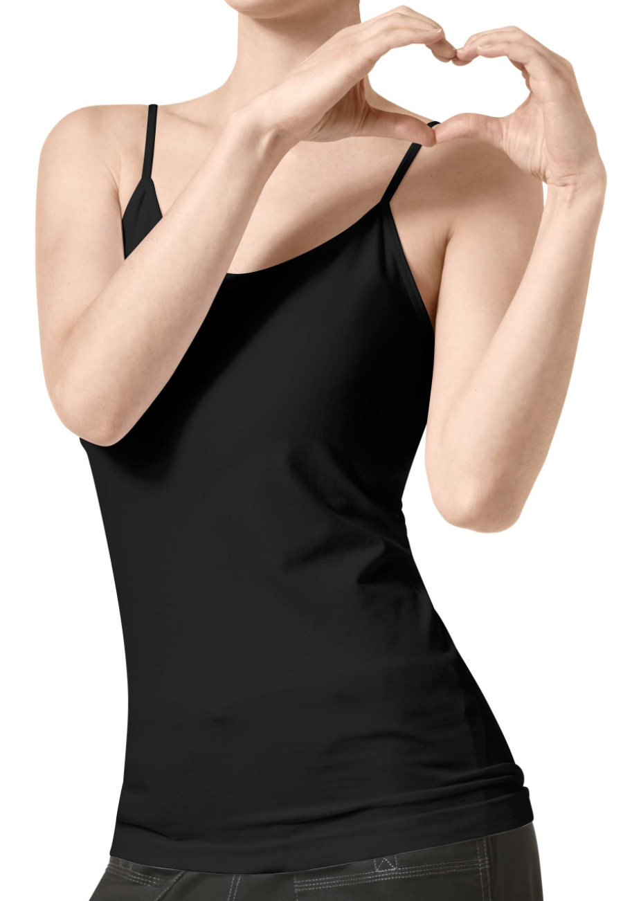 WonderWink Super Stretch Seamless Underscrub Cami - Black - L/XL W1009