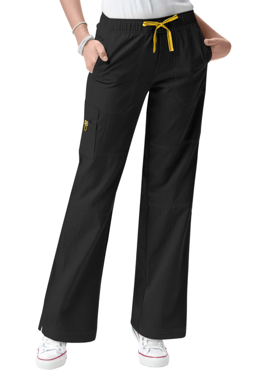 WonderWink Four-Stretch Cargo Scrub Pants - Black - 2X plus size,  plus size fashion plus size appare