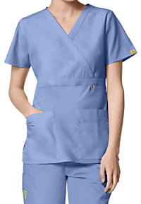 WonderWink Origins Golf Mock Wrap Scrub Tops