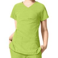 WonderWink Easy Fit Shirred Fashion Wrap Tops