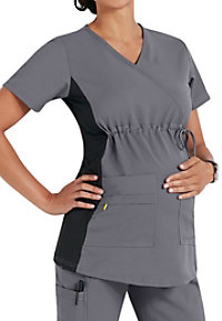 WonderWink Maternity Stretch Mock Wrap Scrub Tops