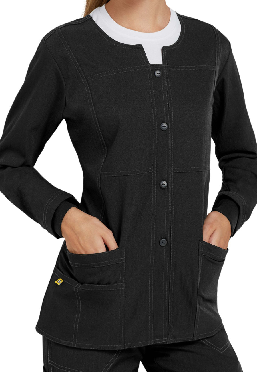 WonderWink Four-Stretch Button Front Scrub Jackets