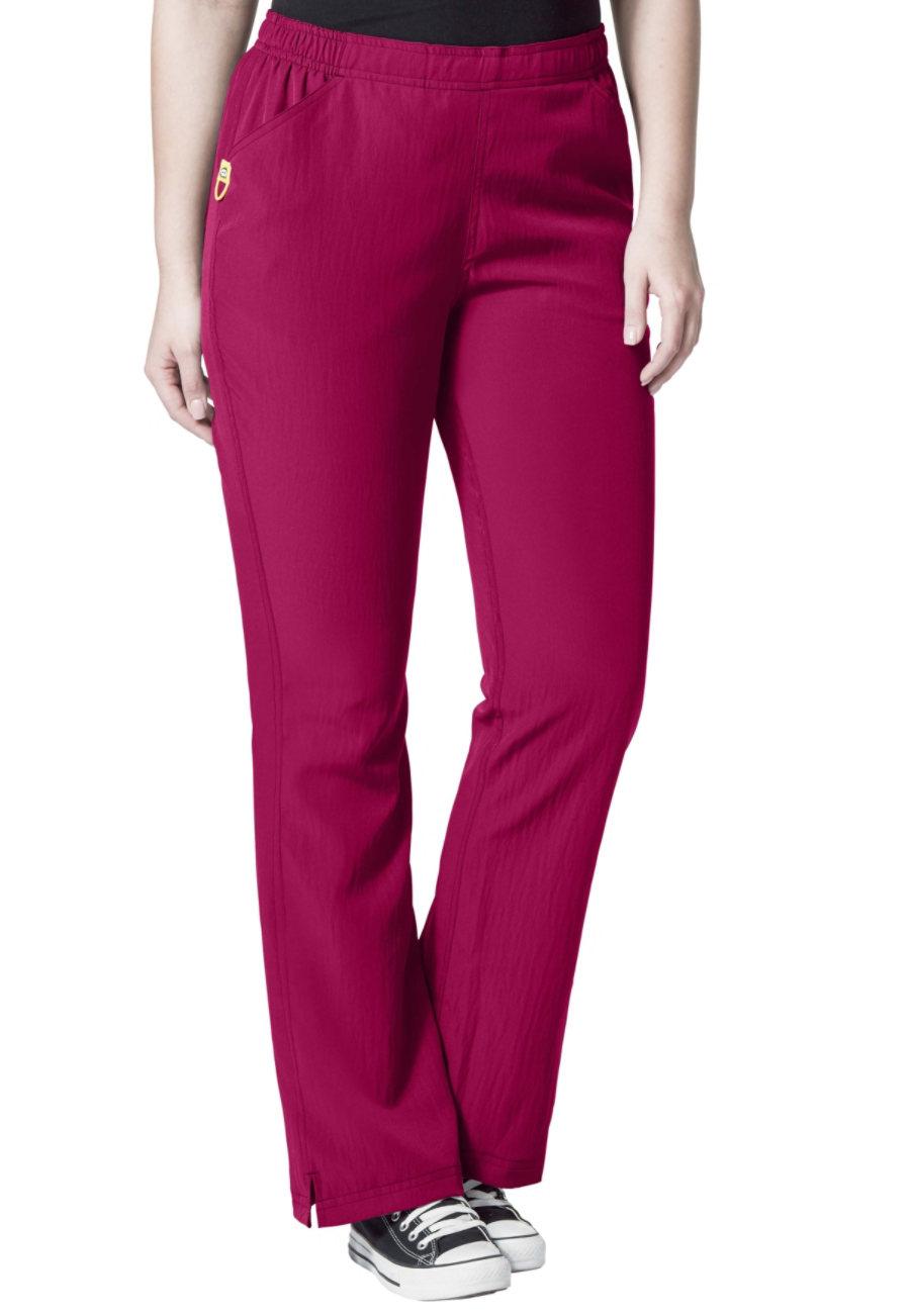 WonderWink Plus Tummy Control Flare Leg Scrub Pants - Berry - 1X plus size,  plus size fashion plus size appare