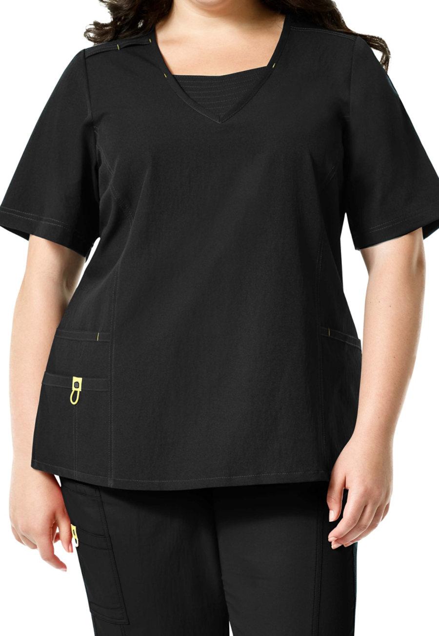 WonderWink Plus Fashion V-neck Scrub Tops