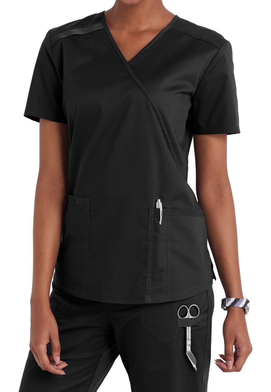 Cherokee Workwear Core Stretch Crossover Scrub Tops