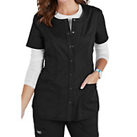 Cherokee Workwear Core Stretch Snap Front Tops