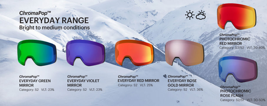 ChromaPop Everyday goggle lenses