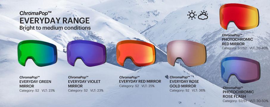 ChromaPop Everyday goggle lenses