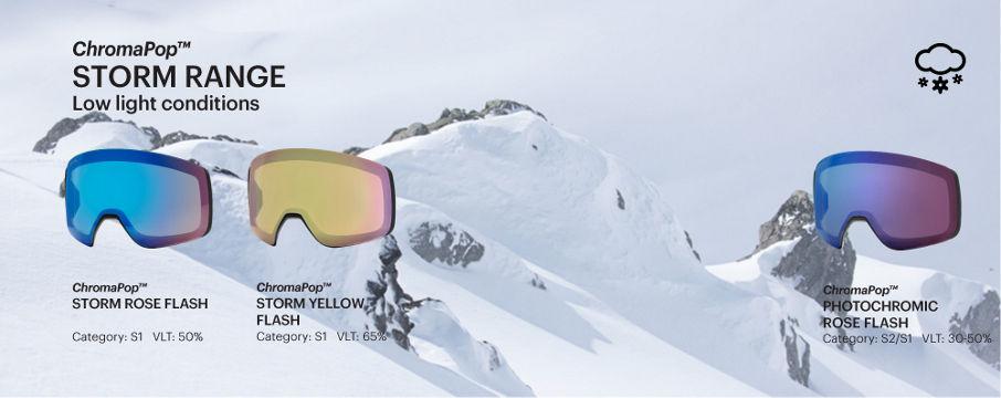 ChromaPop Storm goggle lenses