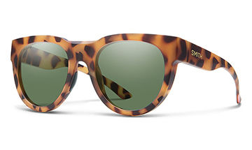 Smith Crusader in Matte Honey Tortoise with Chromapop Polarized Gray Green Lenses