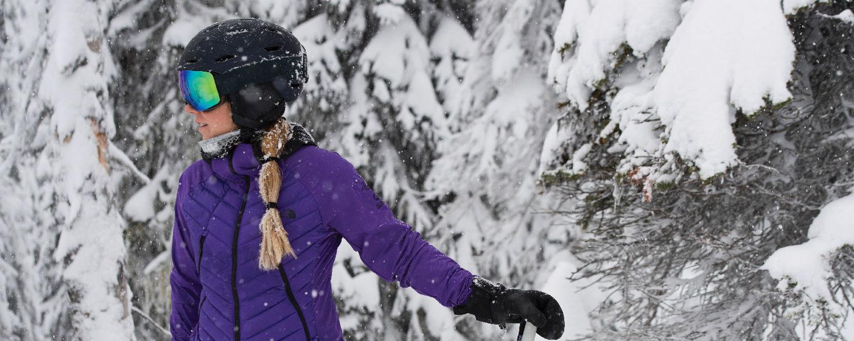 Smith Optics Mirage ski helmet on skier Hadley Hammer