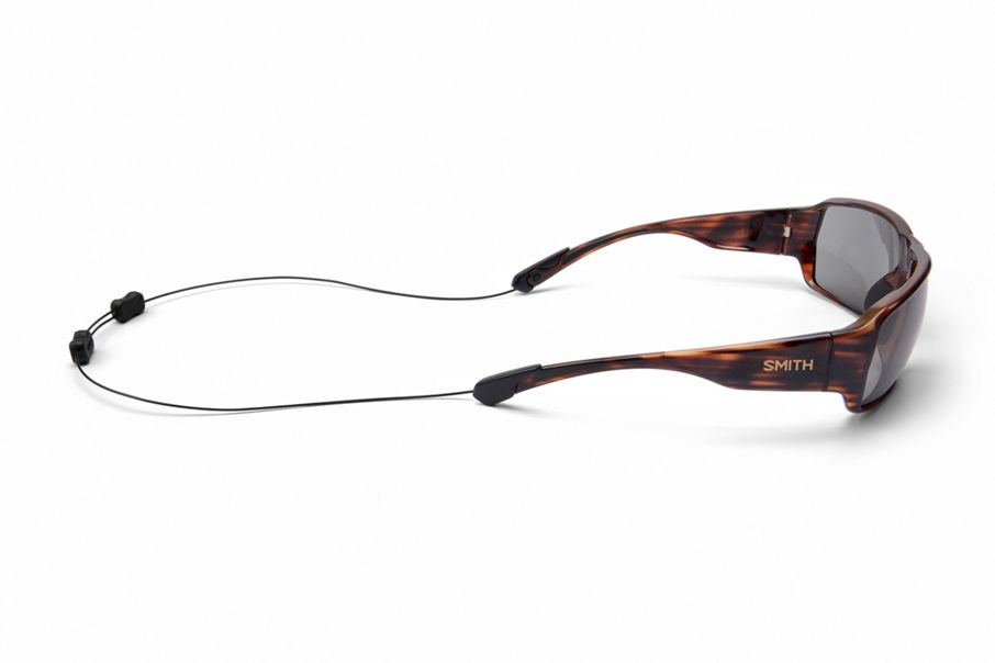 Castaway sunglasses with integrated leash attached