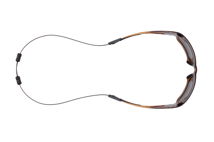 Castaway sunglasses with integrated leash attached top down view