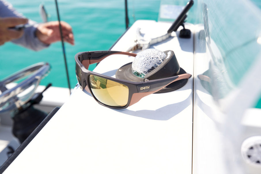 The Smith Freespool MAG sunglass is at home on the water or around town