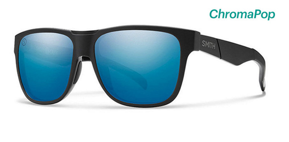 Lowdown Matte Black - Salty Crew / ChromaPop Polarized Blue Mirror