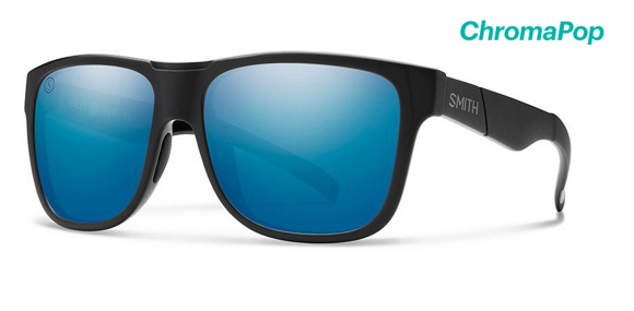 Lowdown XL Matte Black - Salty Crew / ChromaPop Polarized Blue Mirror