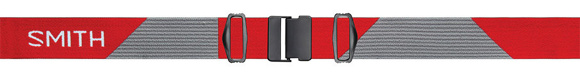 Fire Split / ChromaPop Sun Red Mirror strap