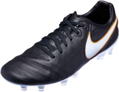 Nike Tiempo Legacy II FG Soccer Cleats - Black White