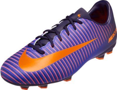 Nike Kids Mercurial Vapor XI FG Soccer Cleats - Purple Dynasty Hyper Grape