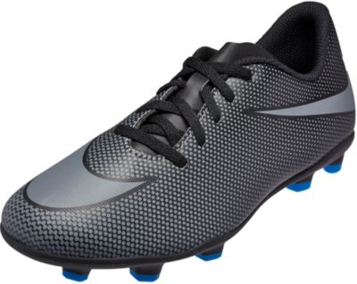 Nike Kids Bravata II FG Soccer Cleats - Black Photo Blue
