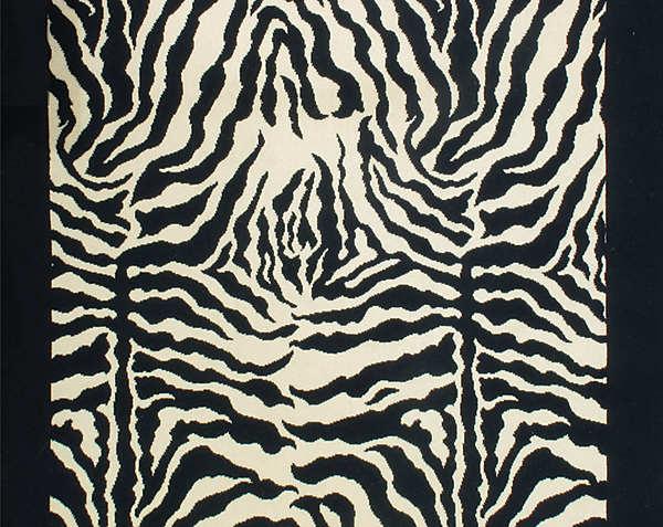 ZEBRA CUT PILE-BLACK/WHITE