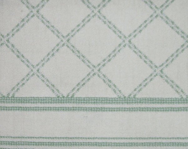 SKIP TRELLIS -GREEN 7601/WHITE