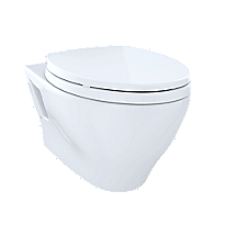Aquia® Wall-Hung Dual-Flush Toilet, 1.6 GPF & 0.9 GPF, Elongated Bowl