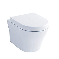 MH Wall-Hung Dual-Flush Toilet, 1.28 GPF & 0.9 GPF, D-Shape Bowl