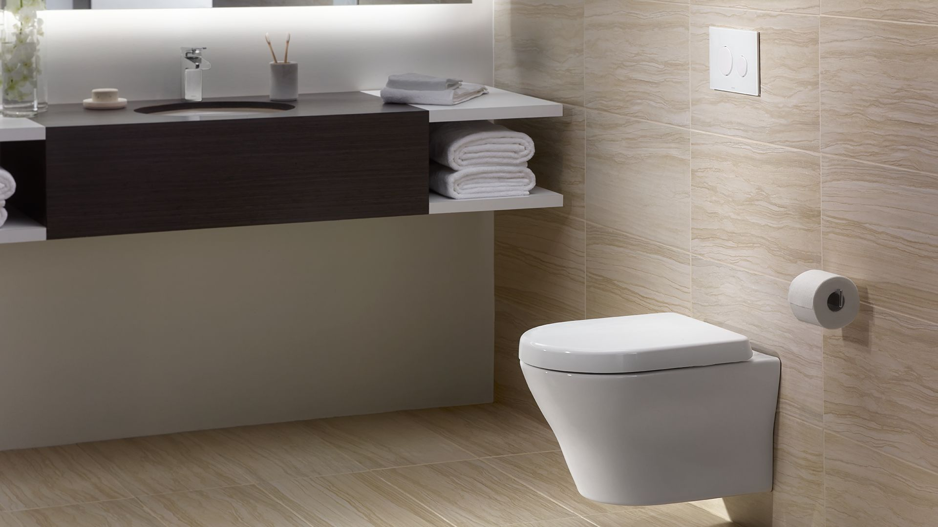 Mh wall hung dual flush toilet gpf 0 9 gpf d shaped for Flush with the wall
