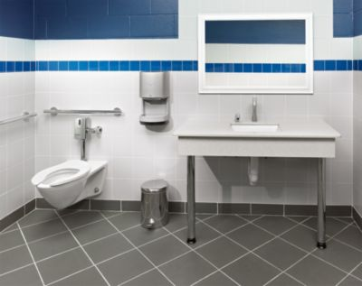 commercial flushometer high efficiency toilet 128 gpf elongated bowl