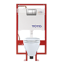 Aquia® Wall-Hung Toilet & DUOFIT In-Wall Tank System, 1.6 GPF & 0.9 GPF, Elongated Bowl - Copper Supply
