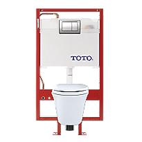 Maris® Wall-Hung Toilet & DUOFIT In-Wall Tank System, 1.6 GPF & 0.9 GPF, Elongated Bowl - Copper Supply