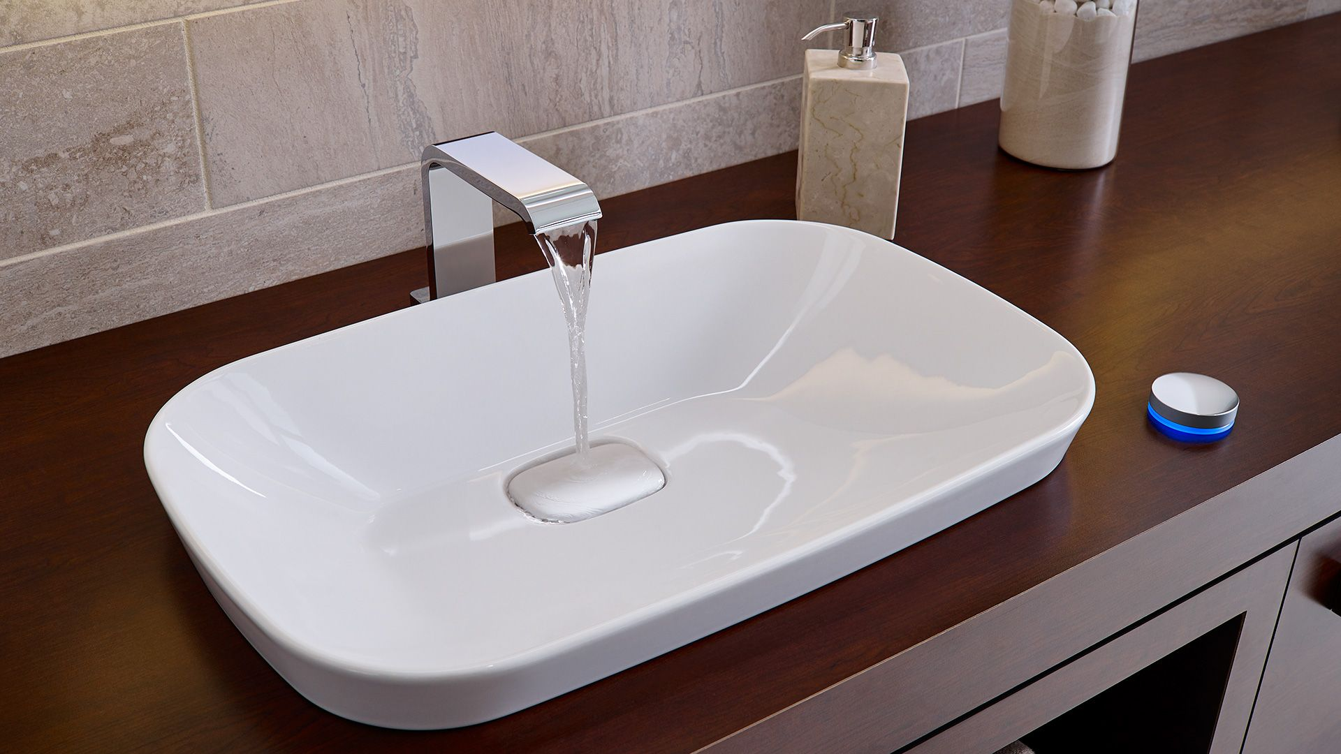 Semi Recessed Vessel Sinks