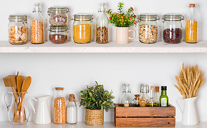Food in Jars to prevent rodent infestation