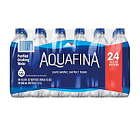 Aquafina Drinking Water Purified - 24-16.9 Fl. Oz.