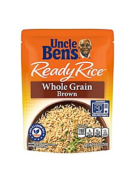 Uncle Bens Ready Rice Pouch Natural Whole Grain Brown - 8.8 Oz