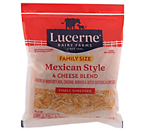 Lucerne Cheese Finely Shredded Mexican Style 4 Cheese Blend - 32 Oz