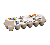 O Organics Organic Eggs Brown Large - 12 Count